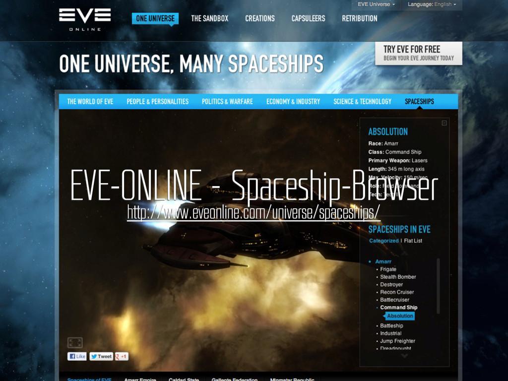 bullet.js EVE-ONLINE – Spaceship-Browser http:/...