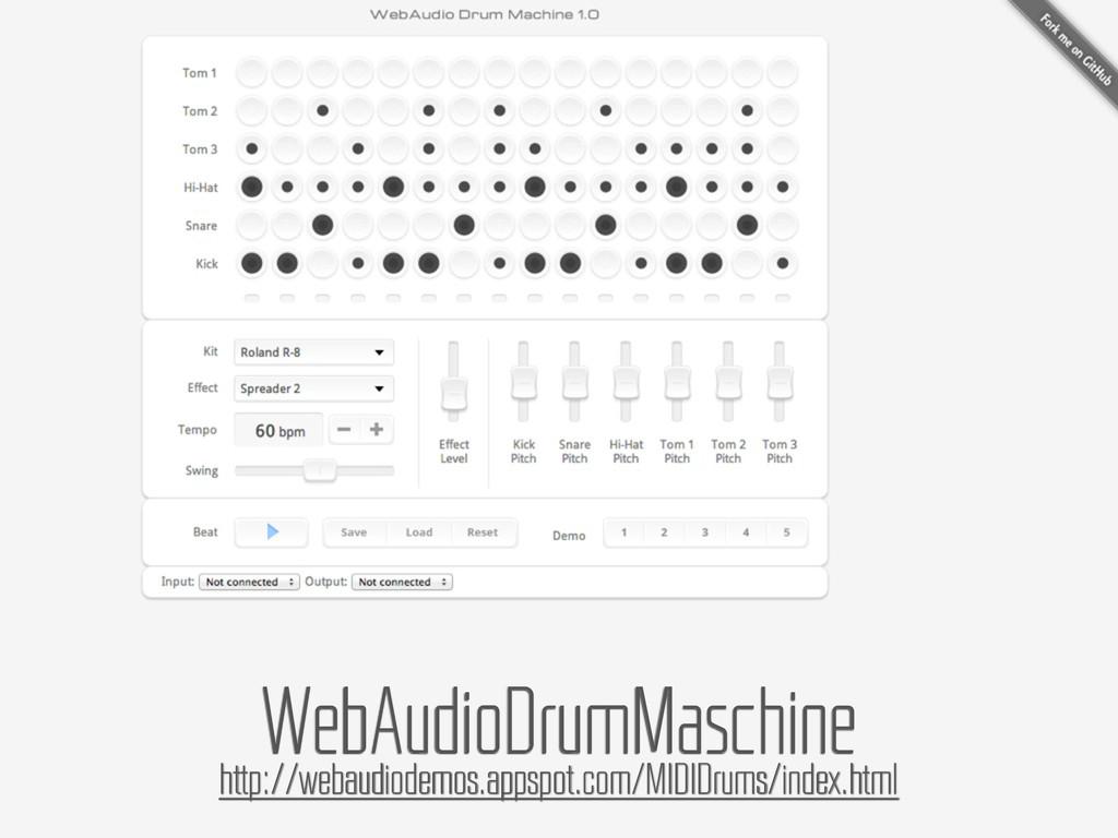 WebAudioDrumMaschine http://webaudiodemos.appsp...