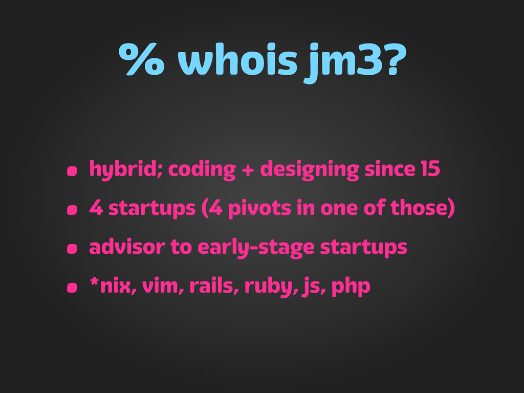 jm3 @ Hack Harvard Harvard Innovation Lab, 2012