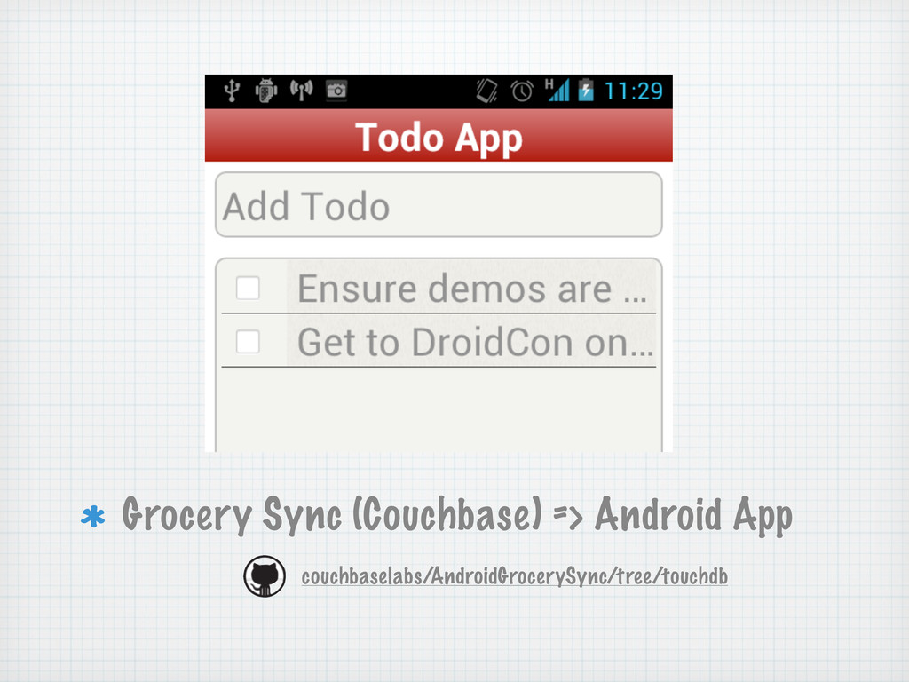 Grocery Sync (Couchbase) => Android App couchba...