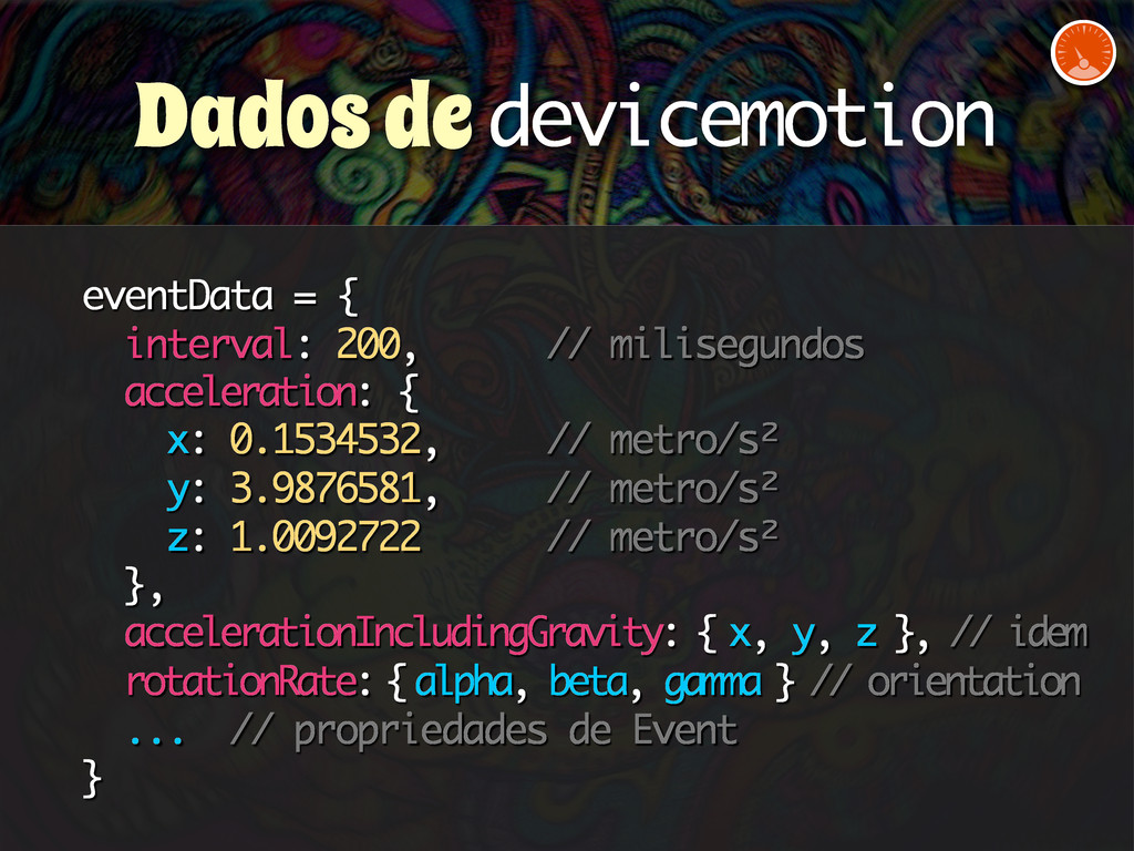 eventData = { interval: 200, // milisegundos ac...