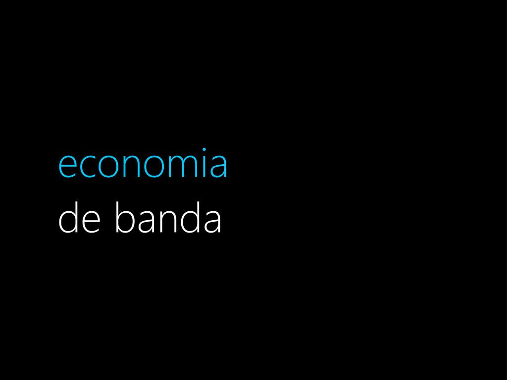 economia de banda