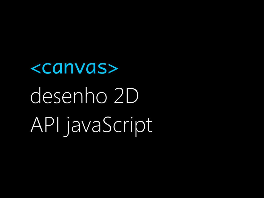 <canvas> desenho 2D API javaScript