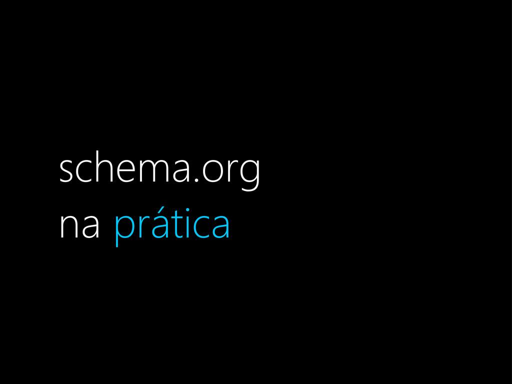 schema.org na prática