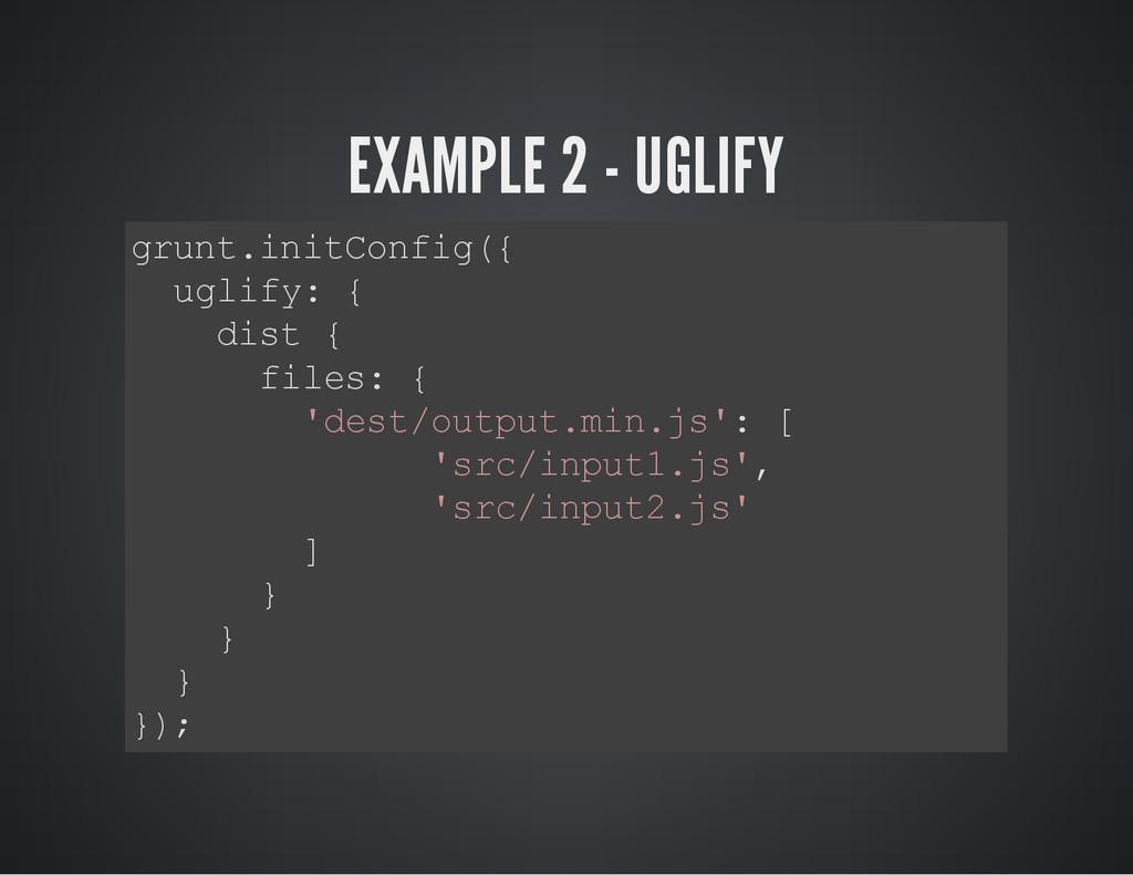 EXAMPLE 2 - UGLIFY g r u n t . i n i t C o n f ...