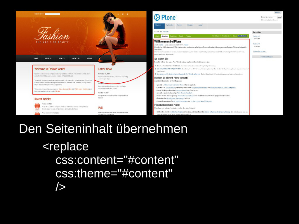 """<replace css:content=""""#content"""" css:theme=""""#con..."""