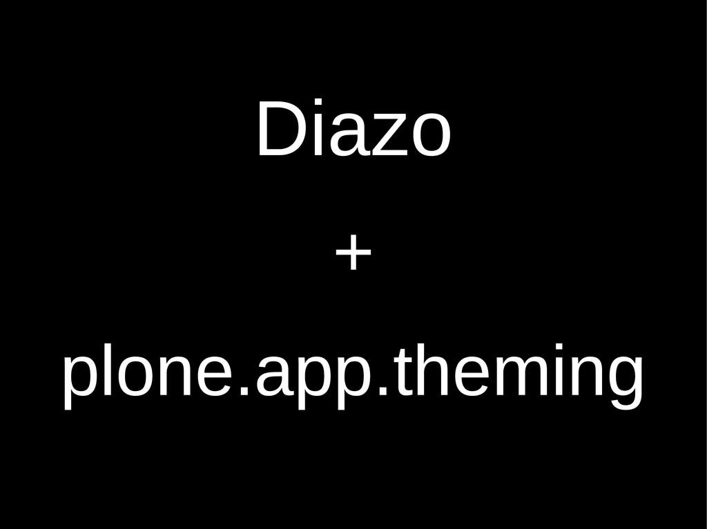 Diazo + plone.app.theming