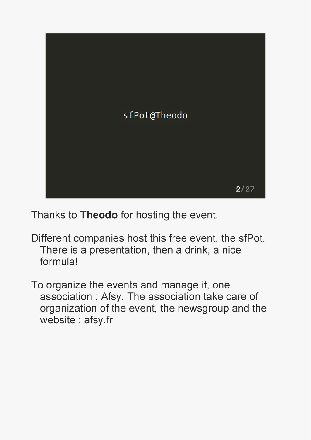 2/27 Thanks to Theodo for hosting the event. Di...