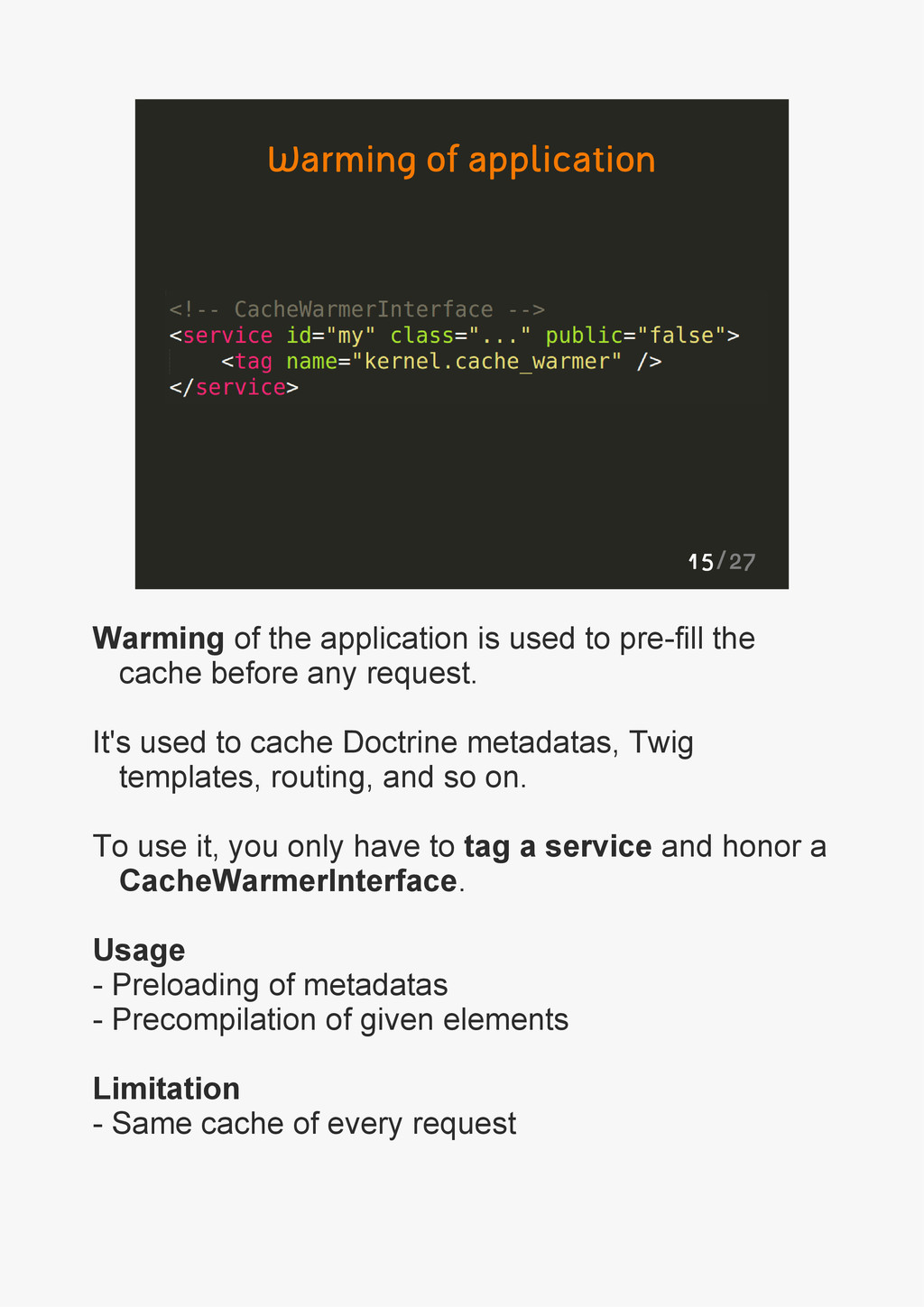 15/27 Warming of application Warming of the app...