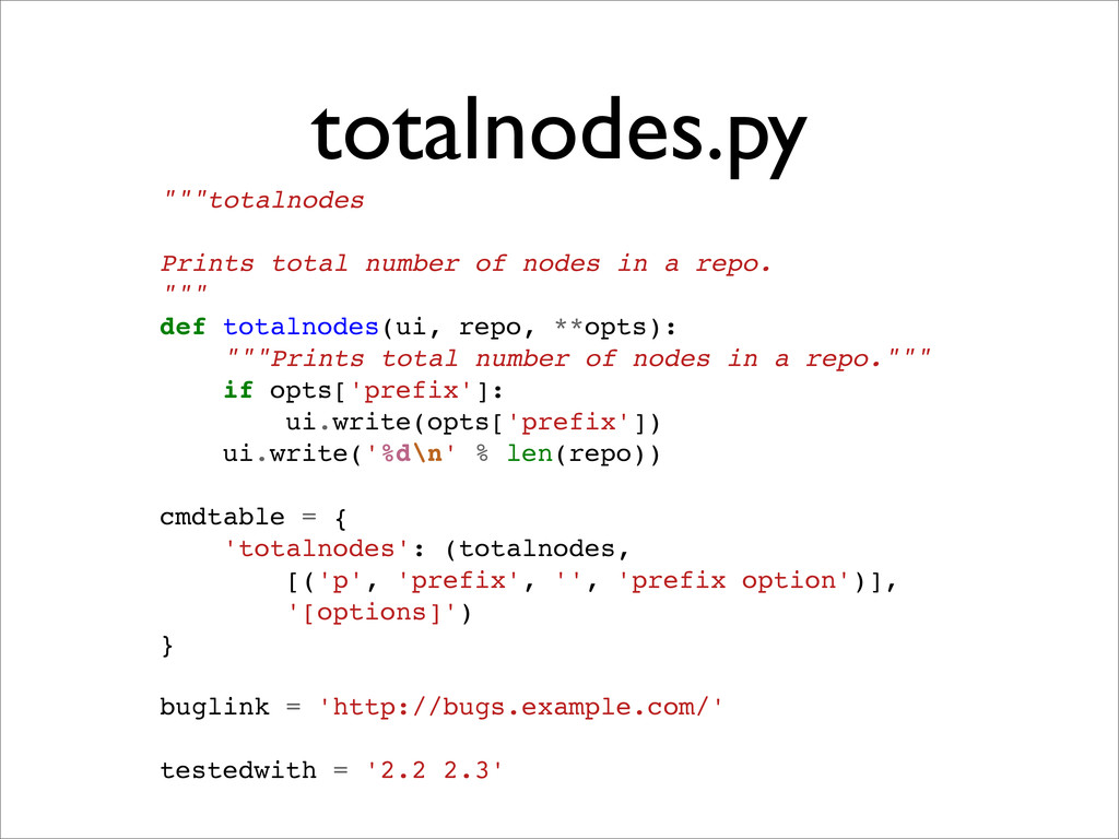 """totalnodes.py """"""""""""totalnodes Prints total number..."""