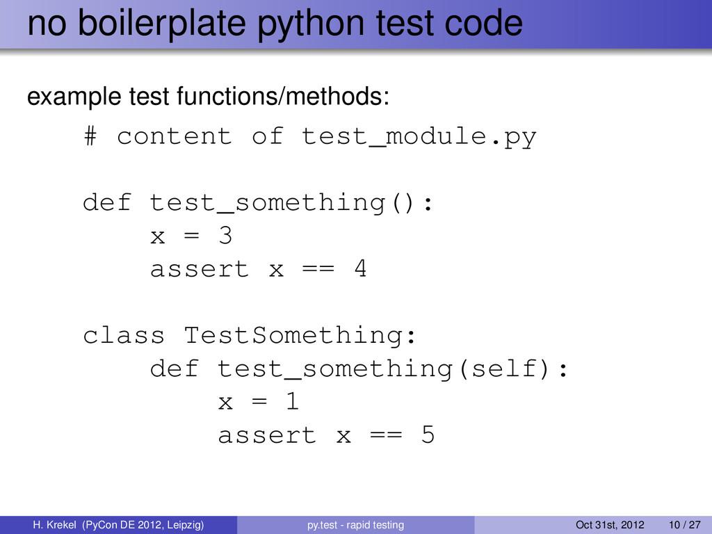 no boilerplate python test code example test fu...