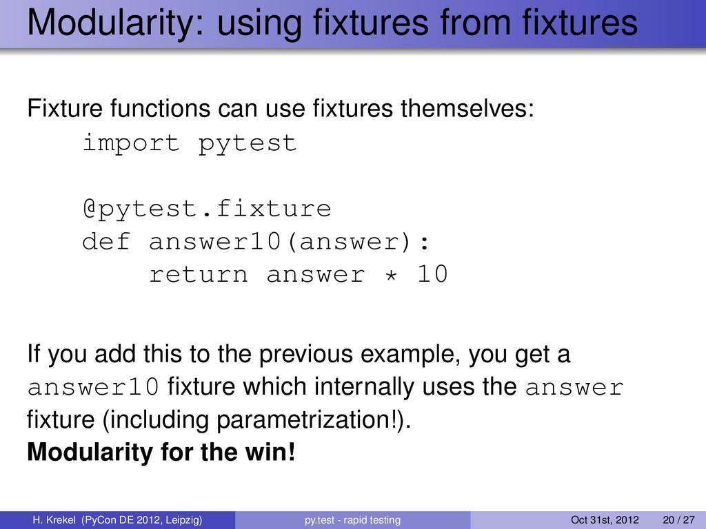Modularity: using fixtures from fixtures Fixture ...