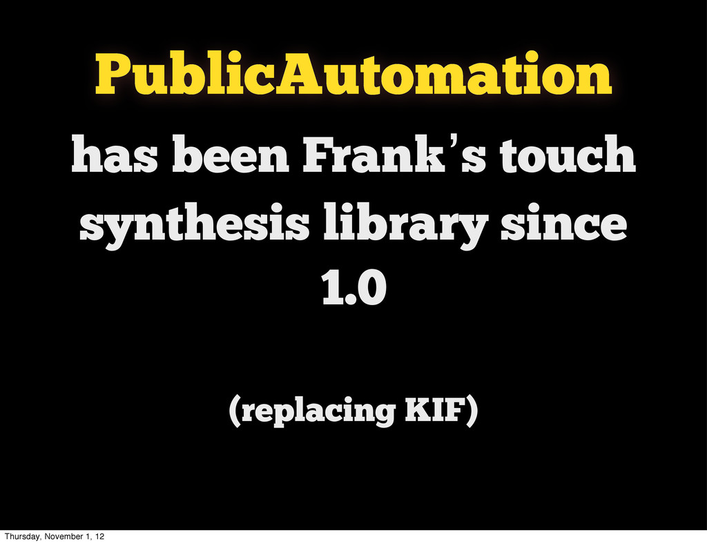 has been Frank's touch synthesis library since ...