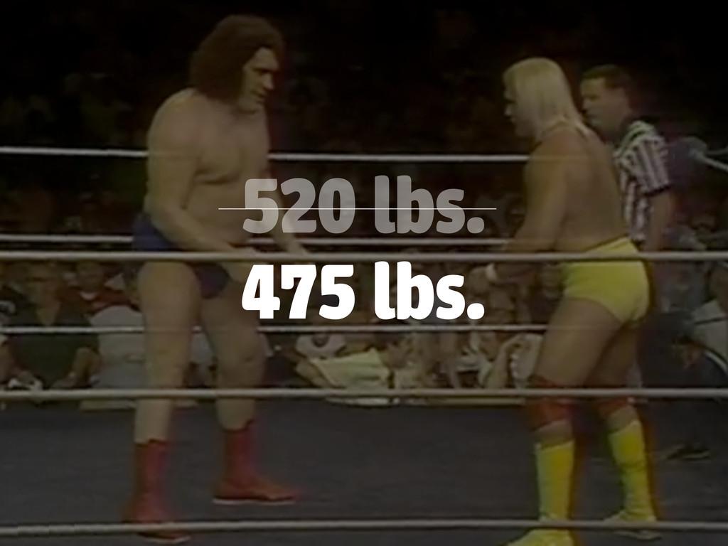 520 lbs. 475 lbs.