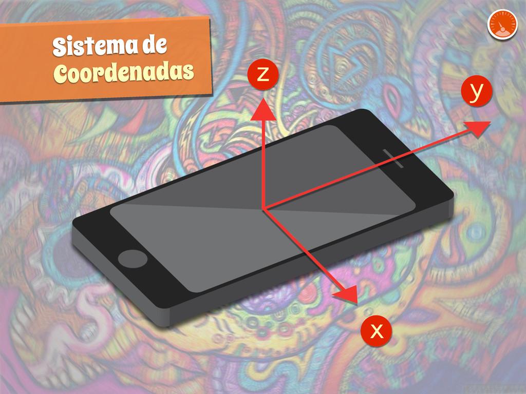 z y x Sistema de Coordenadas