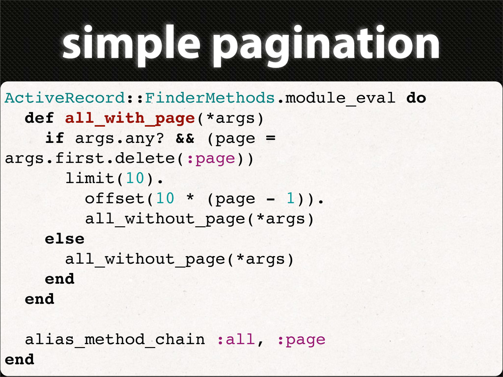 simple pagination ActiveRecord::FinderMethods.m...