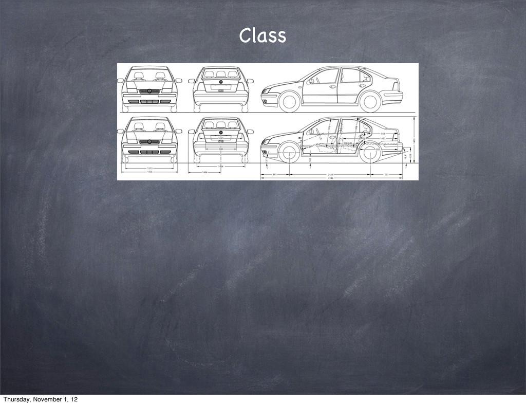 Class Thursday, November 1, 12