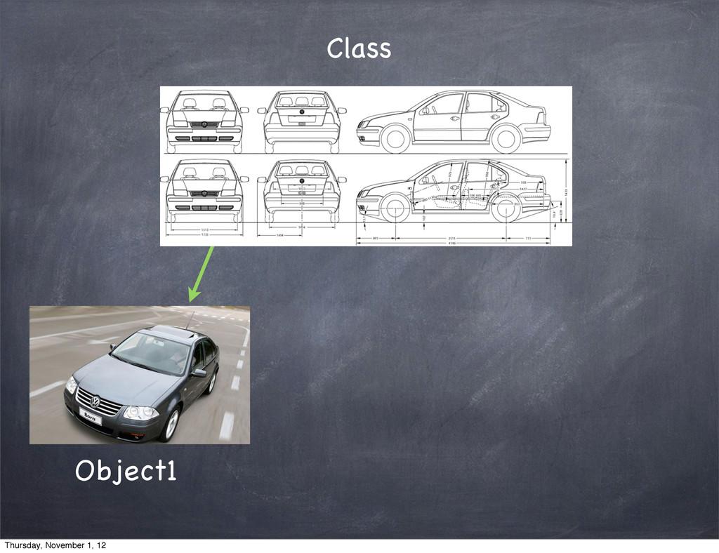Class Object1 Thursday, November 1, 12