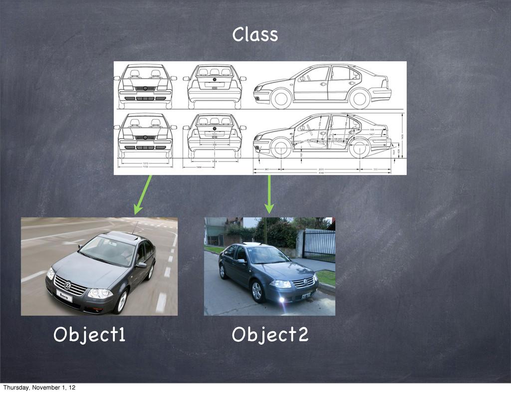 Class Object1 Object2 Thursday, November 1, 12