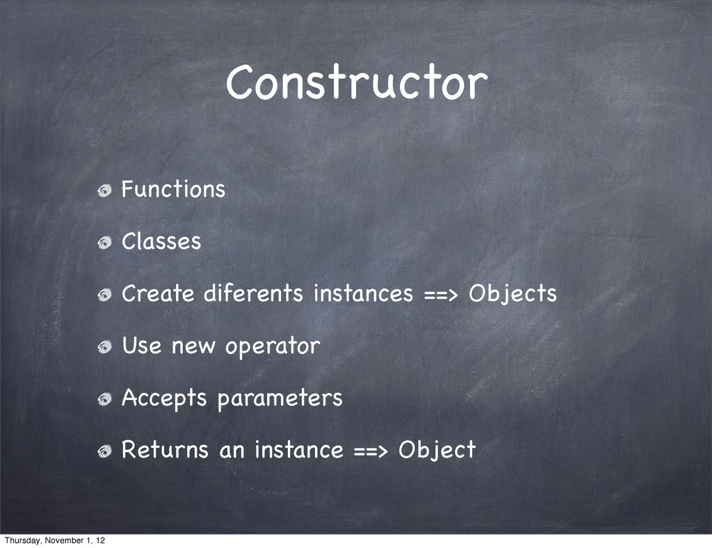Constructor Functions Classes Create diferents ...