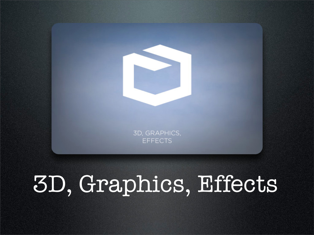 3D, Graphics, Effects