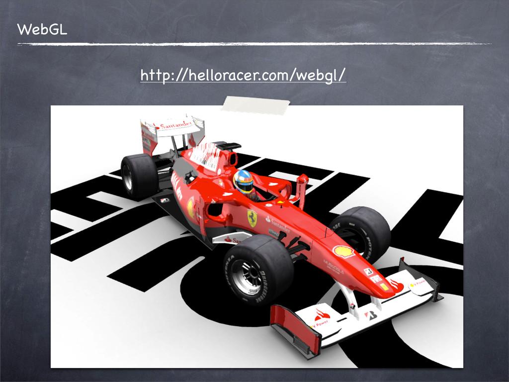 http:/ /helloracer.com/webgl/ WebGL