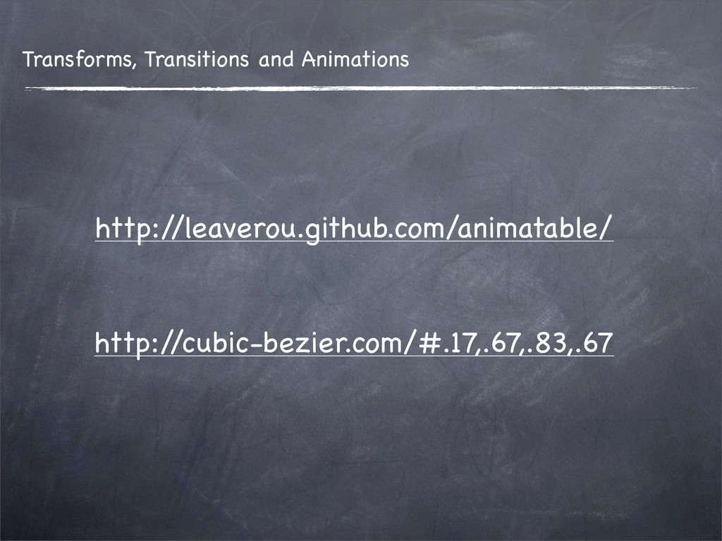 Transforms, Transitions and Animations http:/ /...