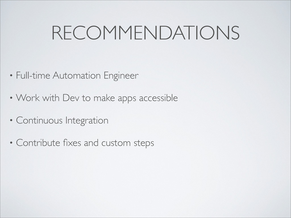RECOMMENDATIONS • Full-time Automation Engineer...
