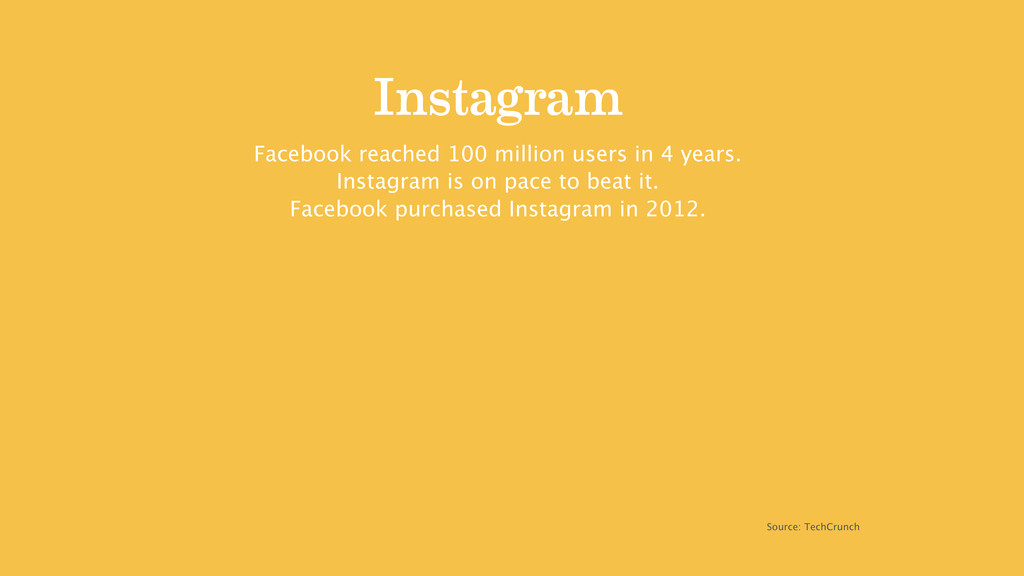 Instagram Facebook reached 100 million users in...