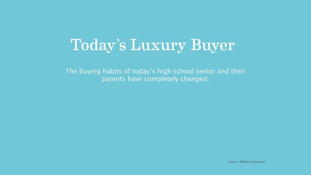 Today's Luxury Buyer Source: iMedia Connection ...