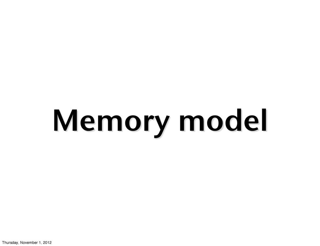 Memory model Thursday, November 1, 2012