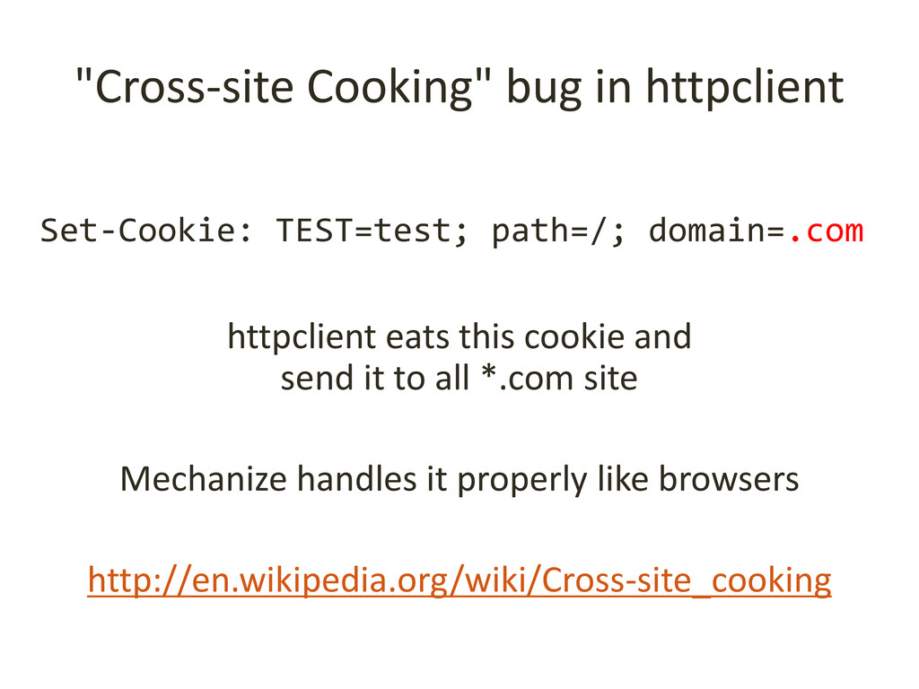 """Cross-site Cooking"" bug in httpclient httpclie..."