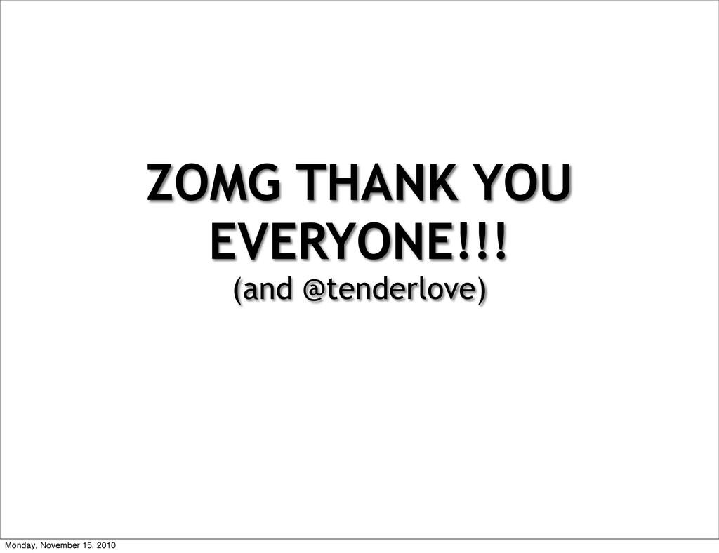 ZOMG THANK YOU EVERYONE!!! (and @tenderlove) Mo...
