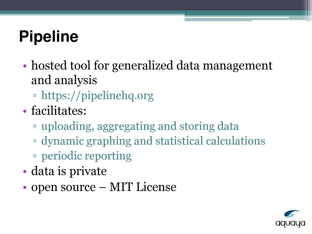 Pipeline • hosted tool for generalized data man...