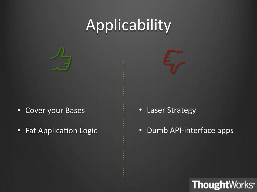 Applicability  • Cover your Bases ...
