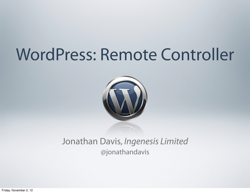 WordPress: Remote Controller Jonathan Davis, In...
