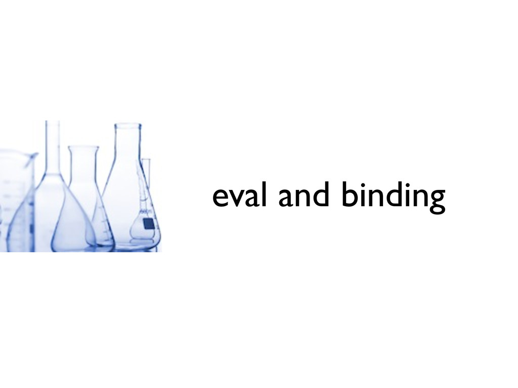 eval and binding