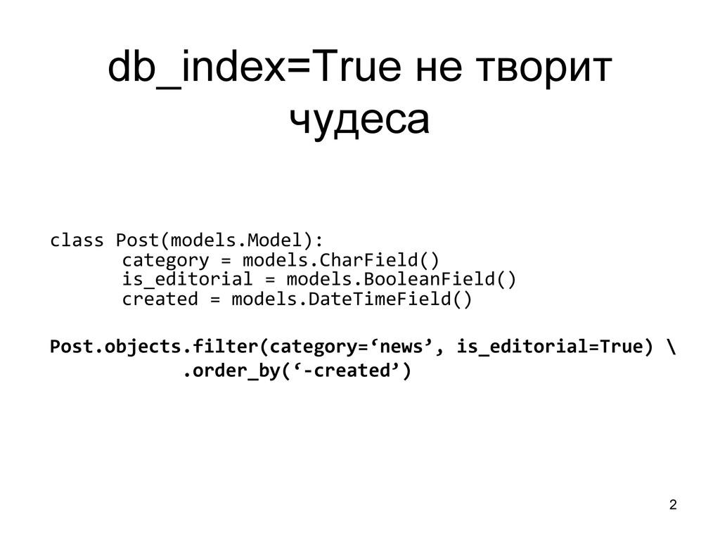2 db_index=True не творит чудеса class Post(...