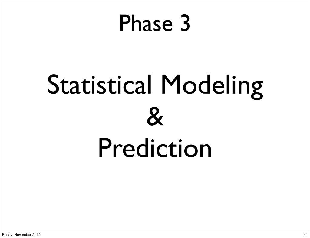Phase 3 Statistical Modeling & Prediction 41 Fr...