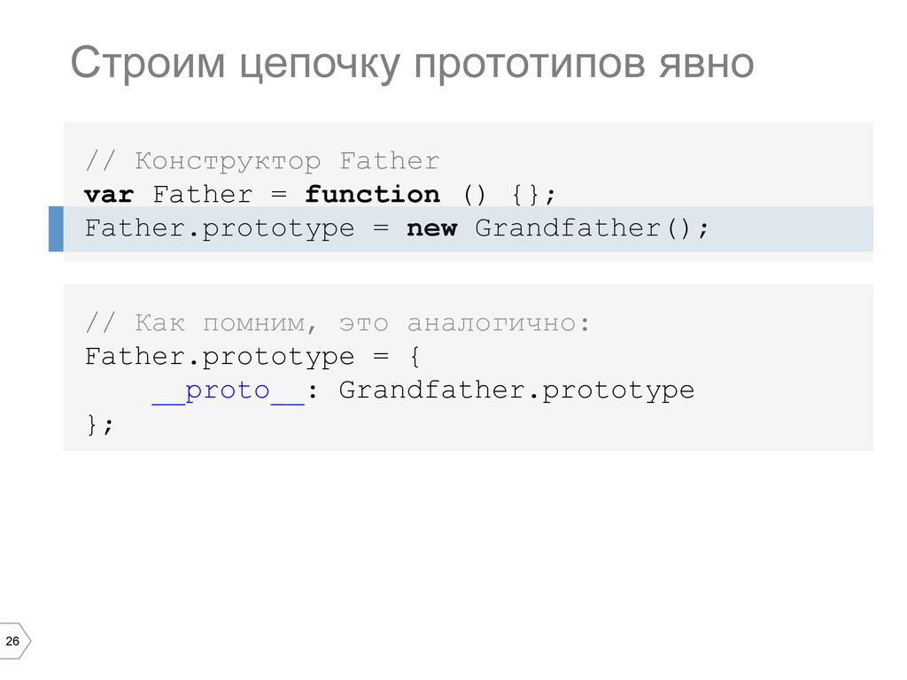 26 Строим цепочку прототипов явно // Конструкто...