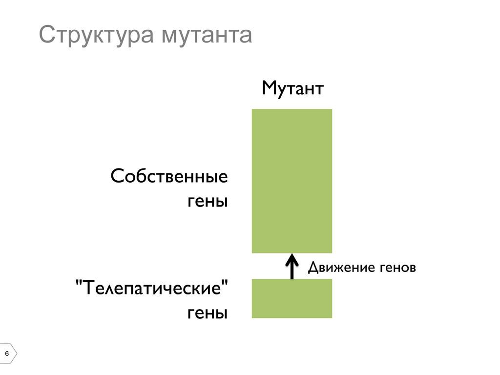 "6 Структура мутанта Мутант  ""Телепатические""..."