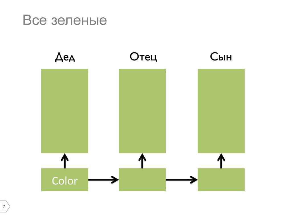 7 Все зеленые Color  Дед  Отец  Сын
