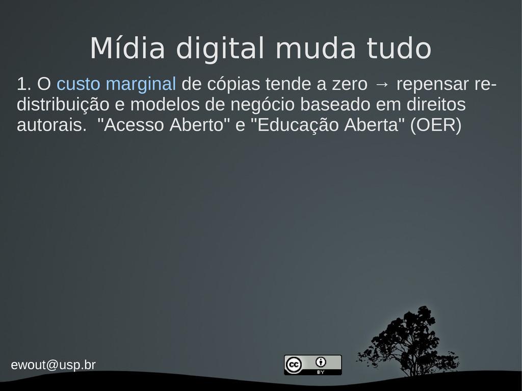 ewout@usp.br Mídia digital muda tudo 1. O custo...