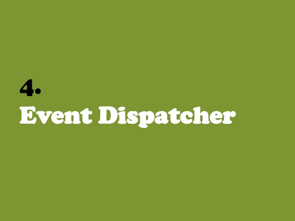4. Event Dispatcher