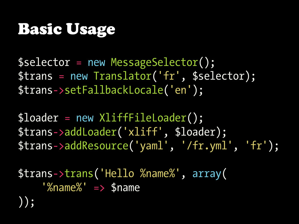 Basic Usage $selector = new MessageSelector(); ...