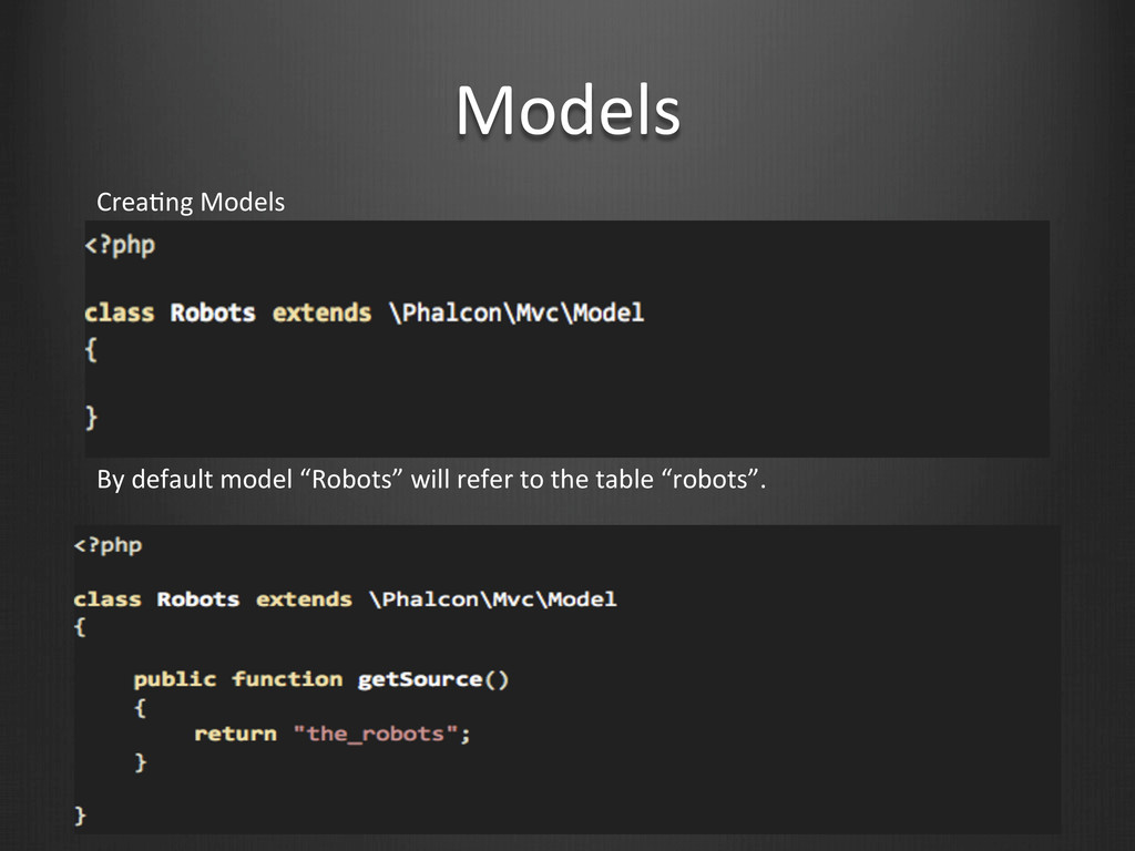 Models CreaWng Models By default mod...