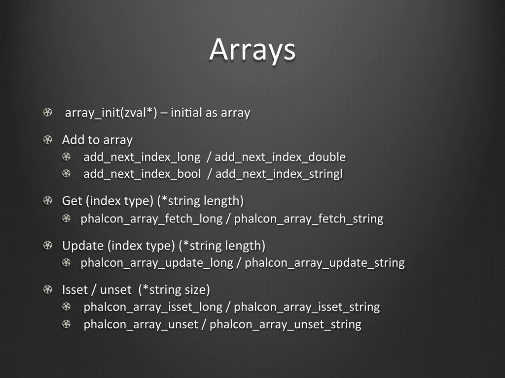 Arrays !   array_init(zval*) – iniWa...