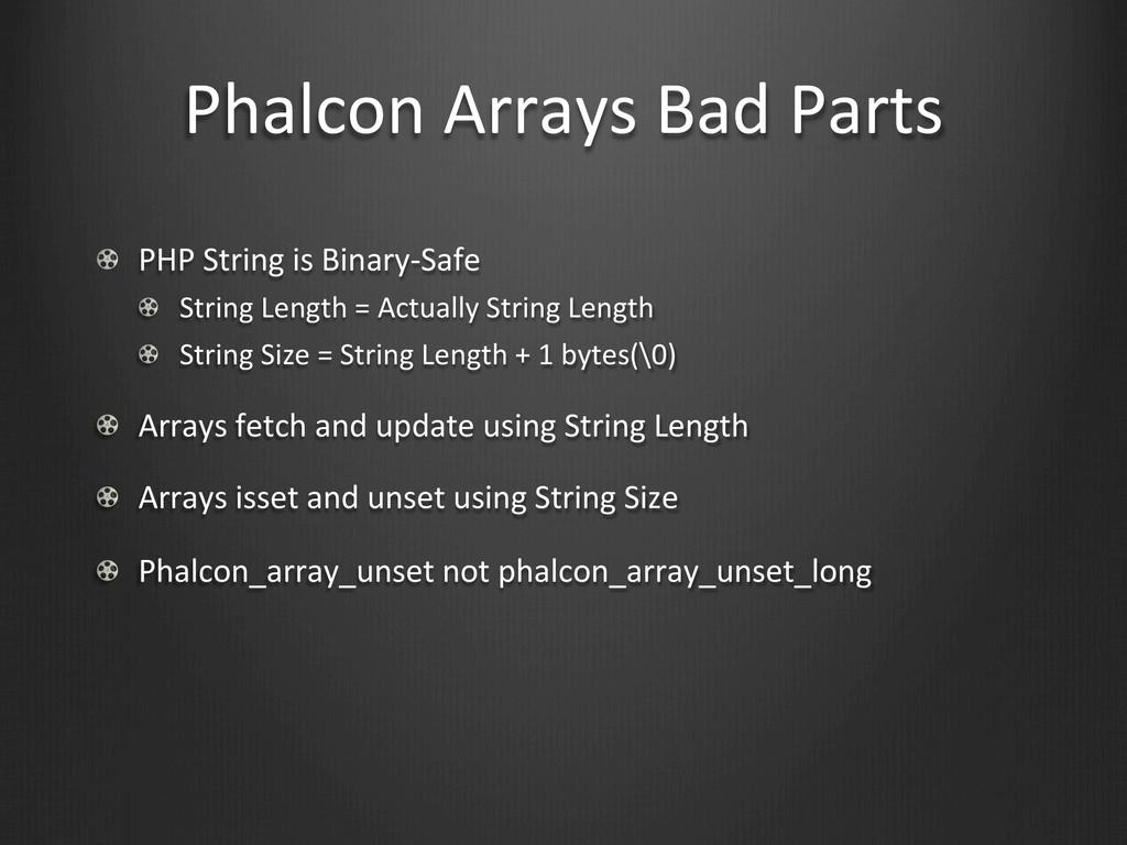 Phalcon Arrays Bad Parts !  PHP S...