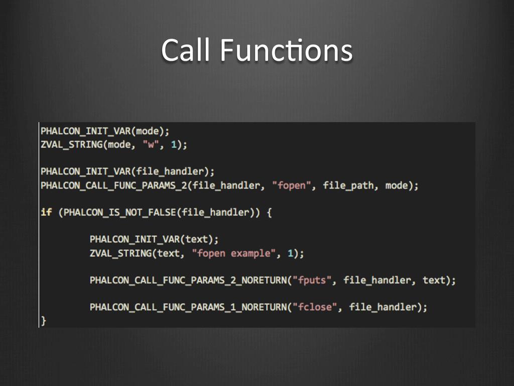 Call FuncWons