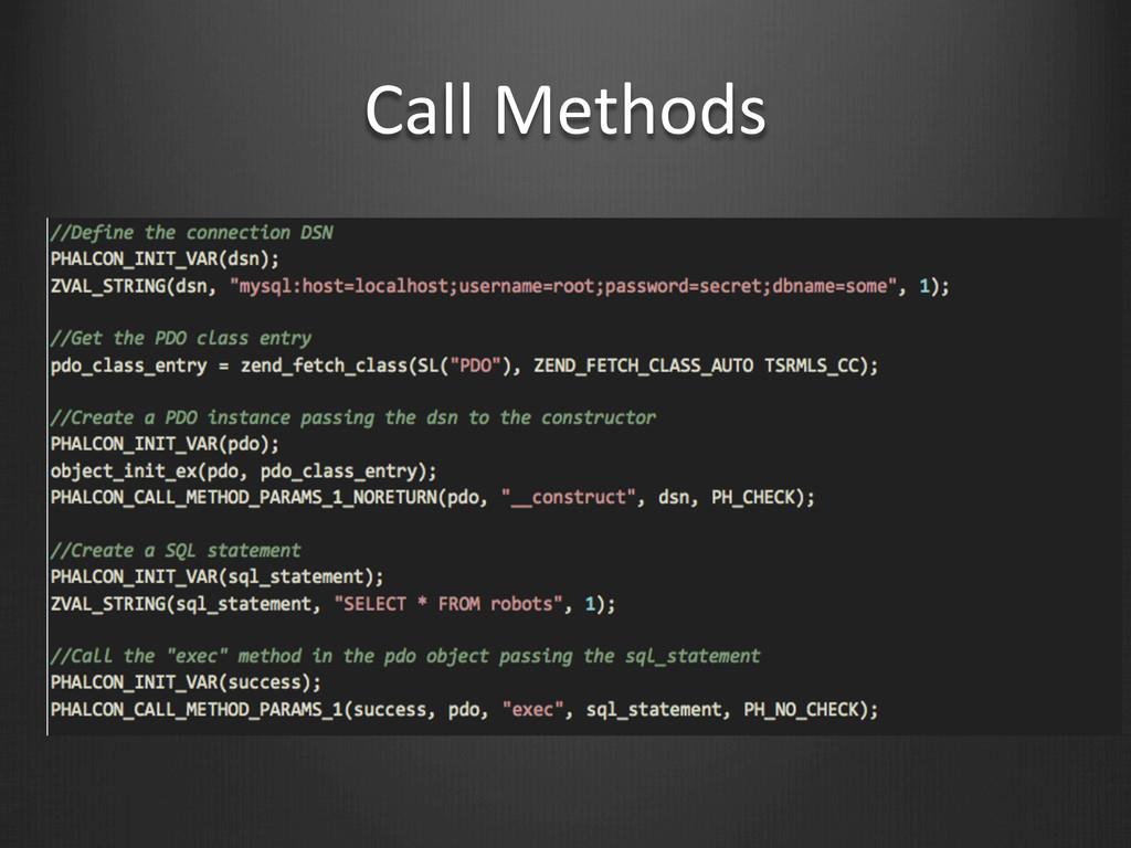 Call Methods